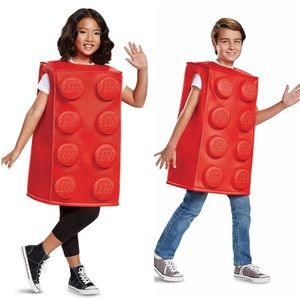 Red LEGO brick Halloween funny clever costume